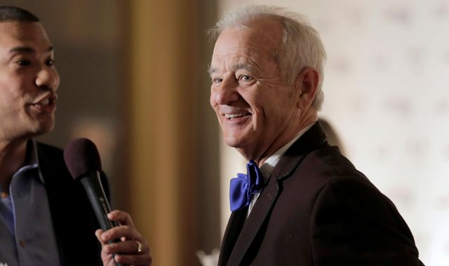 Bill Murray says getting top comedy award is like 'winning lottery'