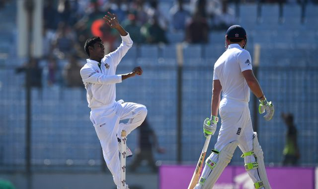 Mehedi keeps England in check on Test debut