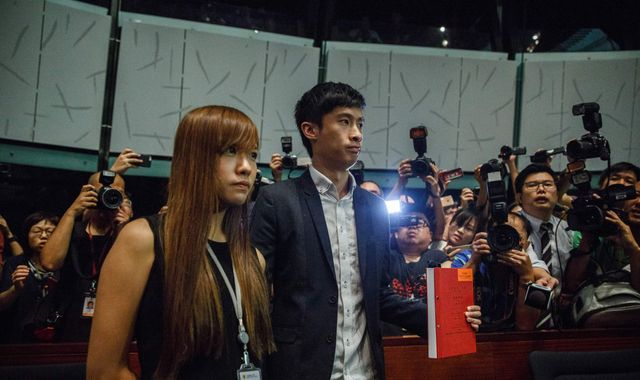 Anti-China pair demand place in Hong Kong legislature