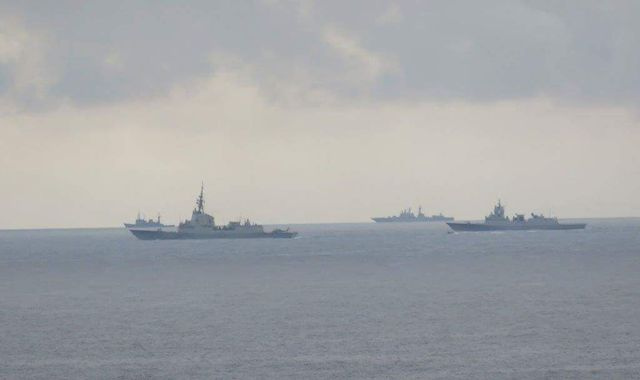 Russian warships sail through English Channel shadowed by Royal Navy