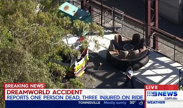 Dreamworld theme park ride accident 'kills at least one'