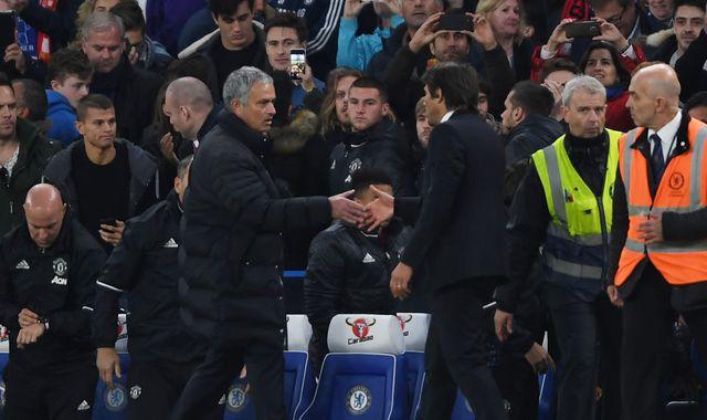 Chelsea's Conte denies 'humiliating' Mourinho