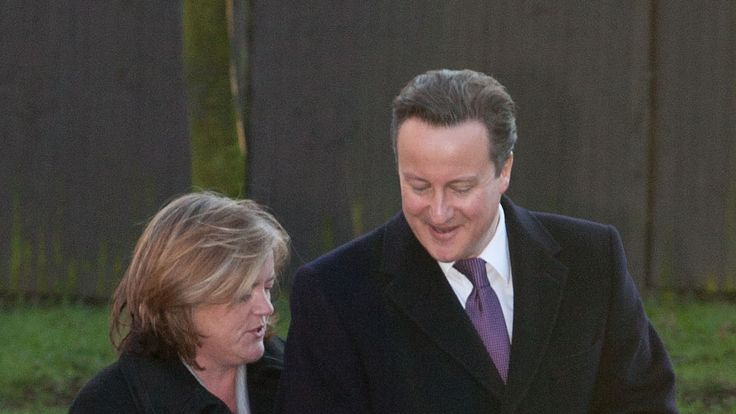 David Cameron with head of the Troubled Families Programme Louise Casey