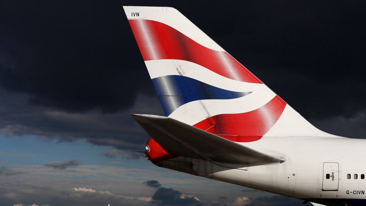 A British Airways aircraft taxis at Heathrow