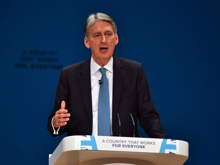 Philip Hammond at the Conservative Party Conference
