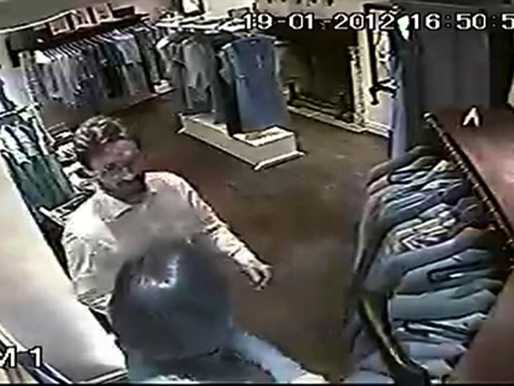 CCTV of Mark Acklom and Carolyn Woods