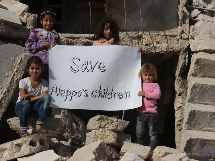 An image from campaign group the Aleppo Media Centre