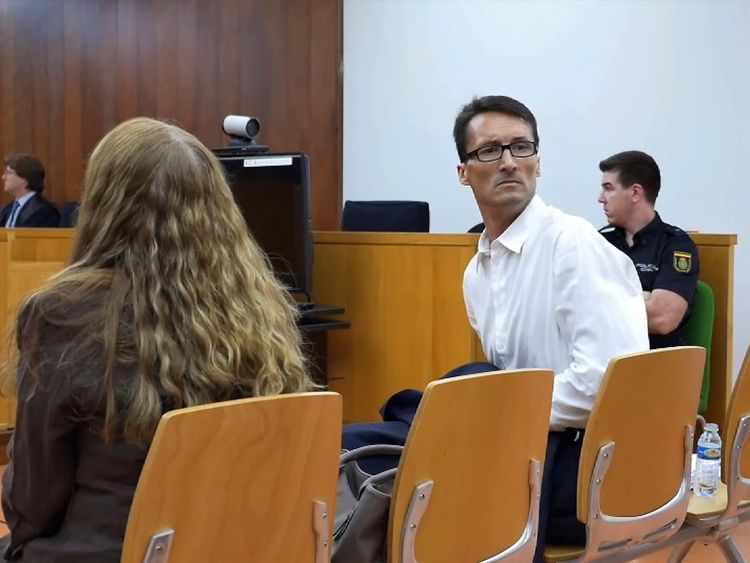 Mark Acklom in court in Spain