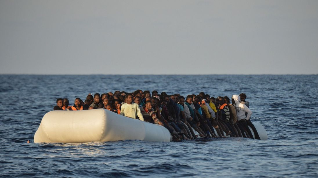 Migrants often set out crammed on board rubber boats with no lifejackets