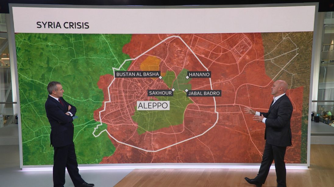 Sam Kiley explains the pro-government advance on rebel-held areas in Aleppo
