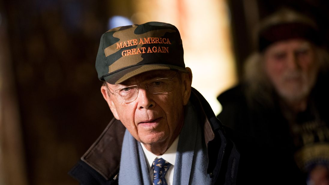 Wilbur Ross, President-elect Donald Trump's choice for Commerce Secretary, speaks briefly to reporters at Trump Tower