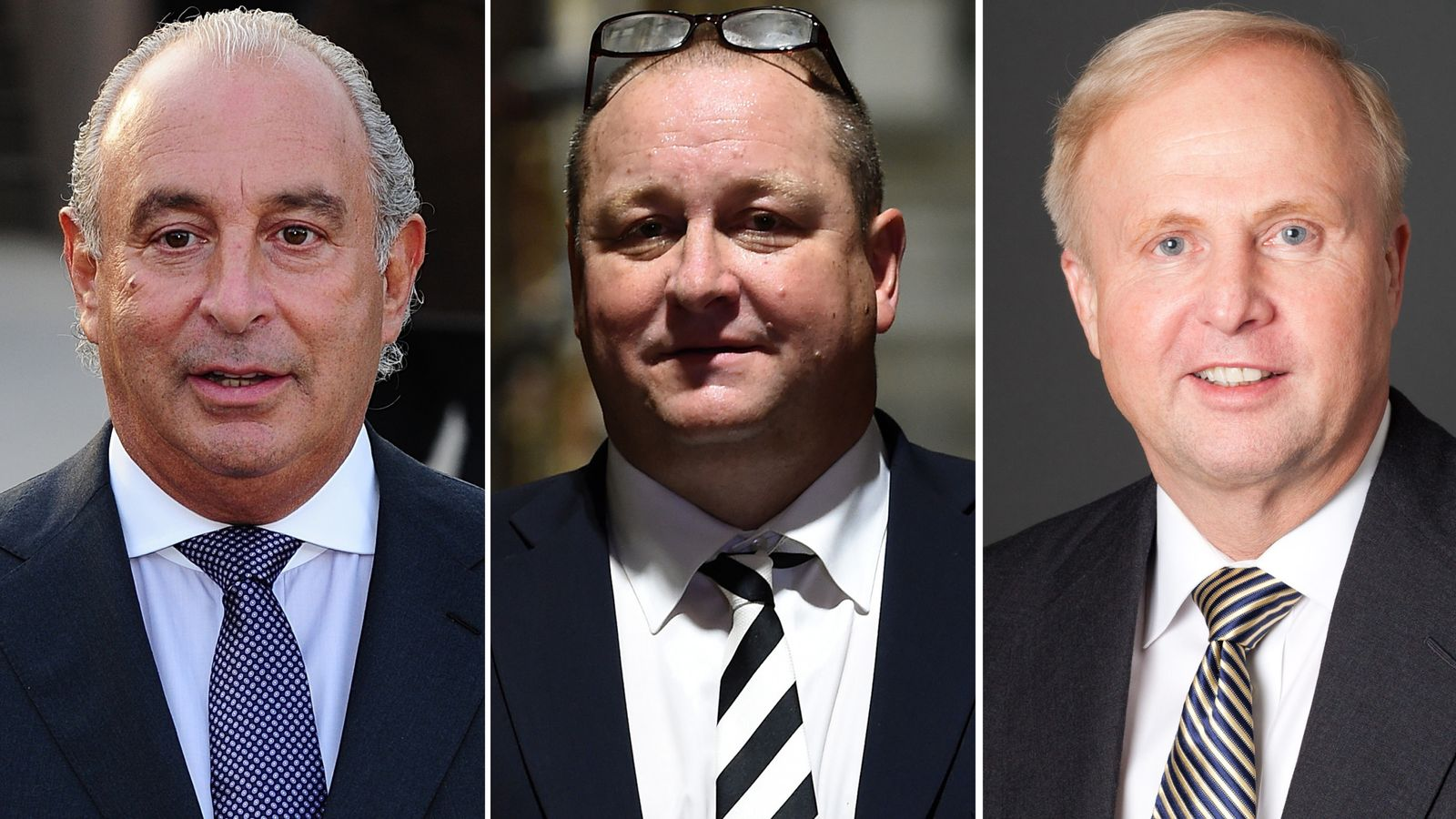 Sir Philip Green, Mike Ashley and Bob Dudley ‎