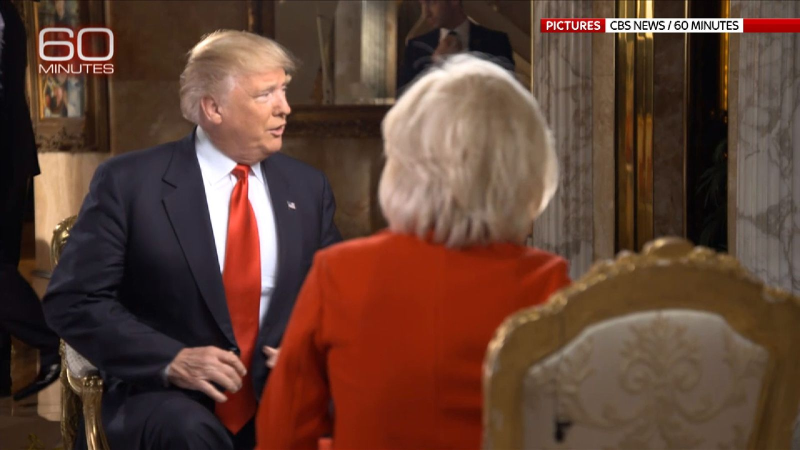 Donald Trump shows a softer side in his first TV interview since becoming President-elect