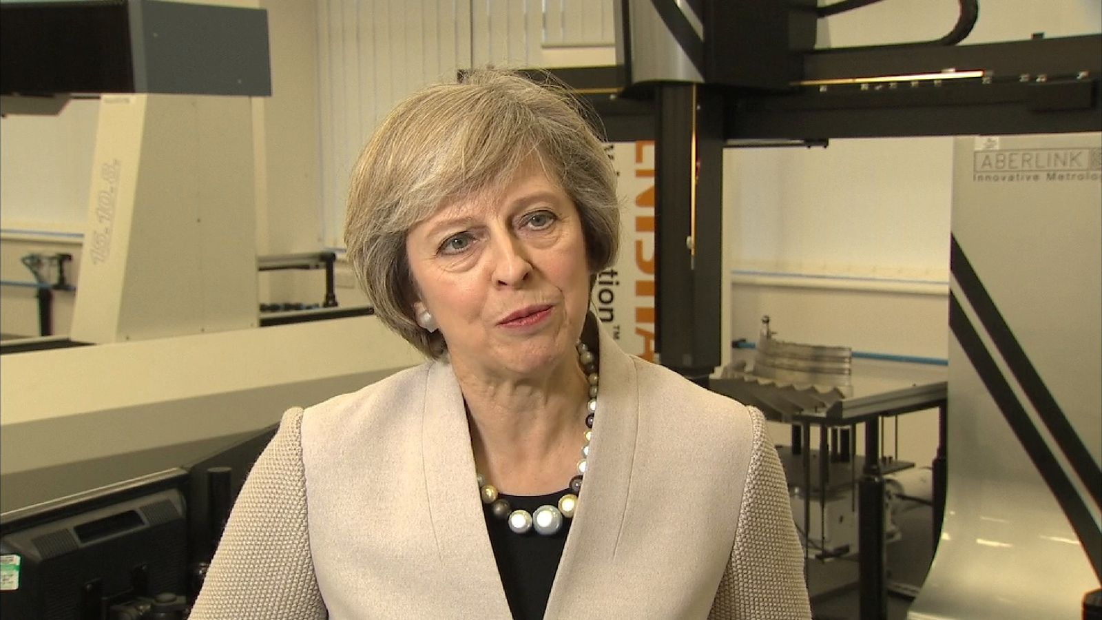 Prime Minister Theresa May talking about the Autumn Statement
