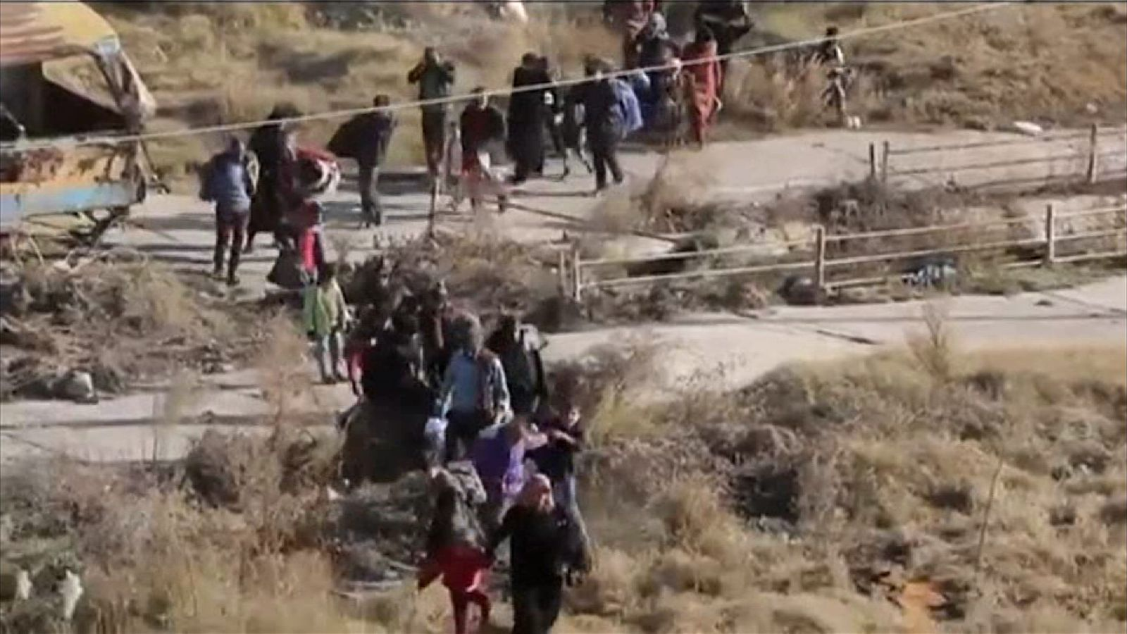 Civilians have been fleeing from east Aleppo where fighting is intensifying