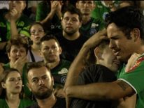 Fans of Chapecoense football club mourn