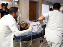 Chapecoense player Alan Ruschel receives medical attention
