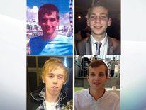 Daniel Whitworth (top left), Jack Taylor (top right), Anthony Walgate (bottom left) and Gabriel Kovari (bottom right)