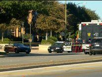 The scene in San Antonio where a detective was shot dead