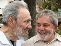 Castro with former Brazilian President Luiz Inacio Lula da Silva