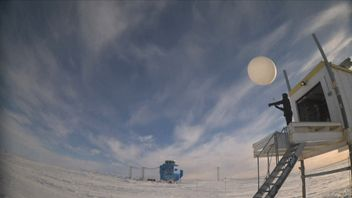The Halley Research Station in the Antarctic