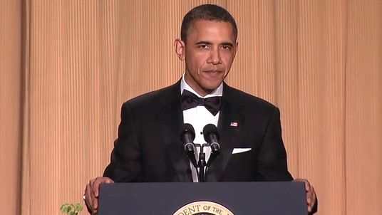 Barack Obama at the 2011 White House Correspondents' Dinner