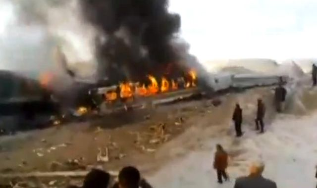 Iran detains three railway staff over deadly train crash