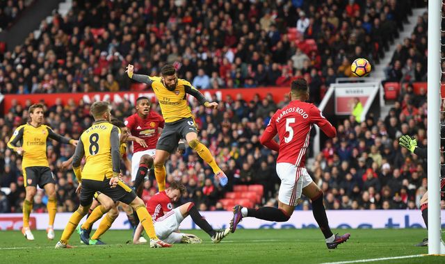 Giroud steals point for Wenger after Mata gives Mourinho lead
