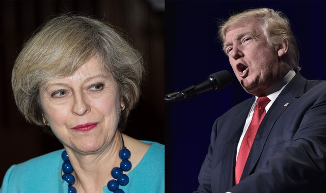 Theresa May says being woman PM is a 'big statement' to Donald Trump