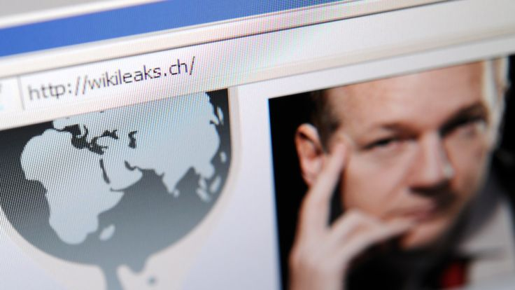 The homepage of Wikileaks.ch with a picture of its founder Julian Assange is seen on a computer screen on December 4, 2010 in Lausanne. WikiLeaks was battling to stay online after Sweden issued a new arrest warrant for its elusive boss Julian Assange, while PayPal axed donations access for the whistleblowing website. The Swiss address -- wikileaks.ch -- was up and running again after migrating to new servers. AFP PHOTO / FABRICE COFFRINI (Photo credit should read FABRICE COFFRINI/AFP/Getty Image