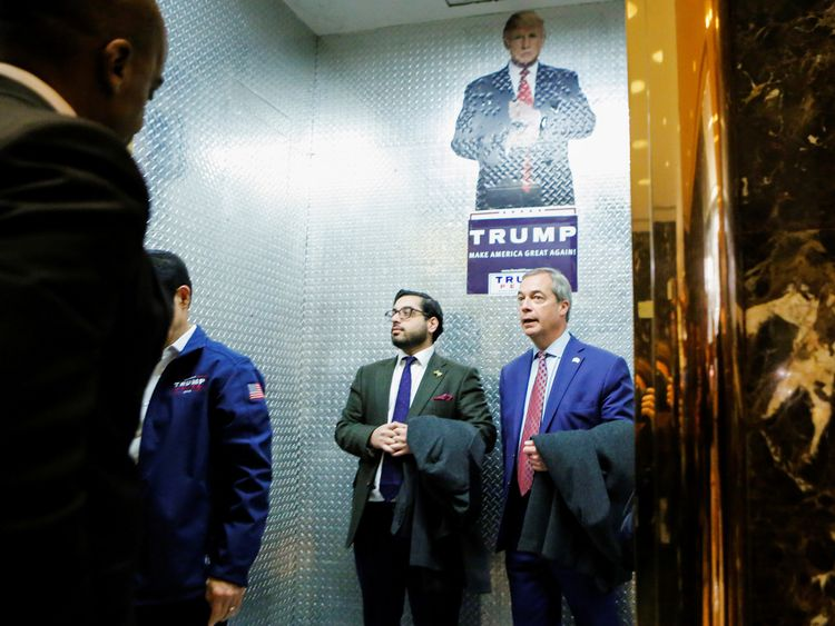 Nigel Farage with Raheem Kassam