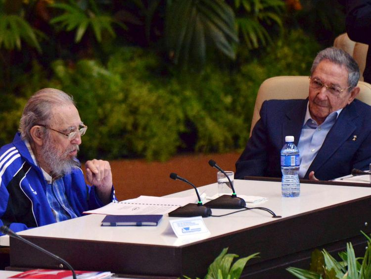 Relations with the US have improved since President Raul Castro(R) took over from his brother Fidel
