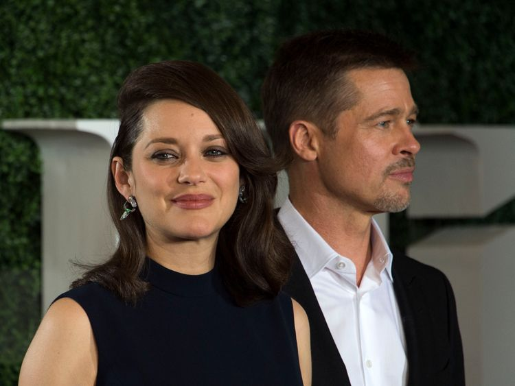 Pitt made his first public appearance with co-star Cotillard on the LA premiere of Allied