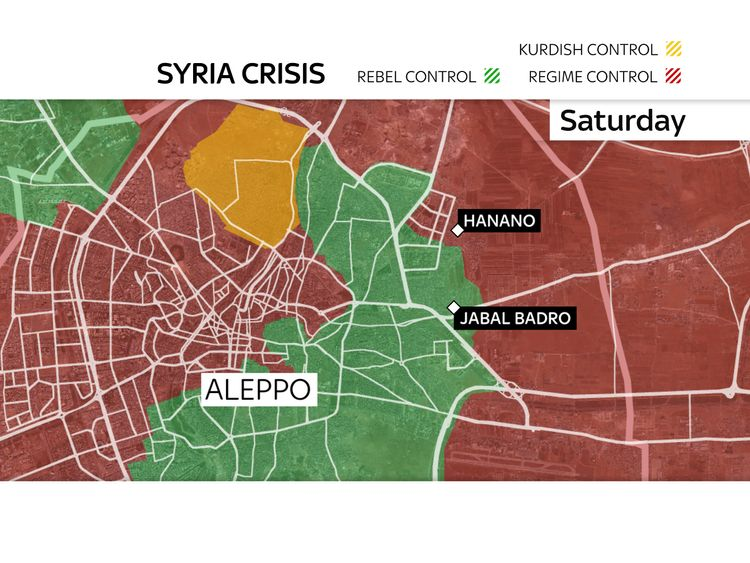Aleppo map