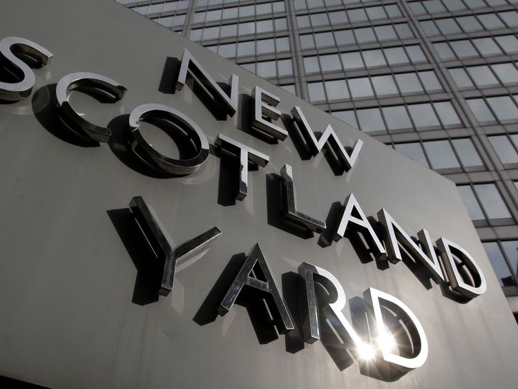 File photo dated 9/4/2009 of New Scotland Yard, the headquarters of the Metropolitan Police, Britain's largest police force