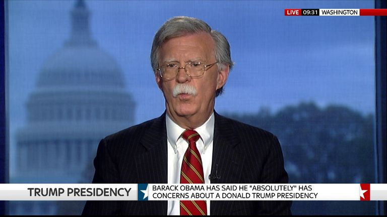 Diplomat, John Bolton, who is being tipped as a serious contender to become Donald Trump's Secretary Of State.