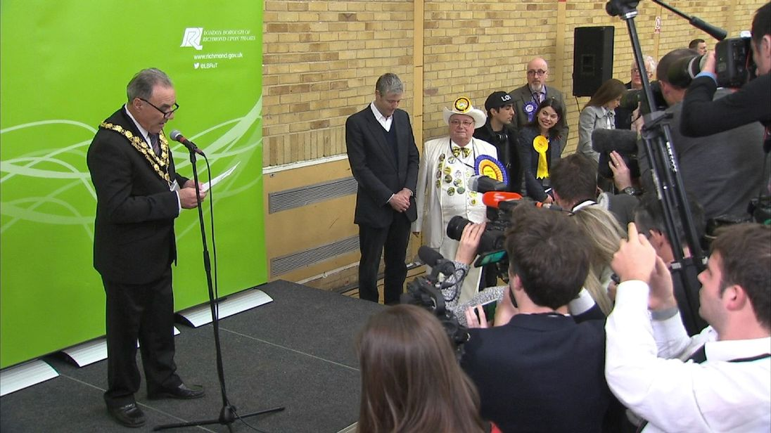 Declaration in Richmond Park by-election