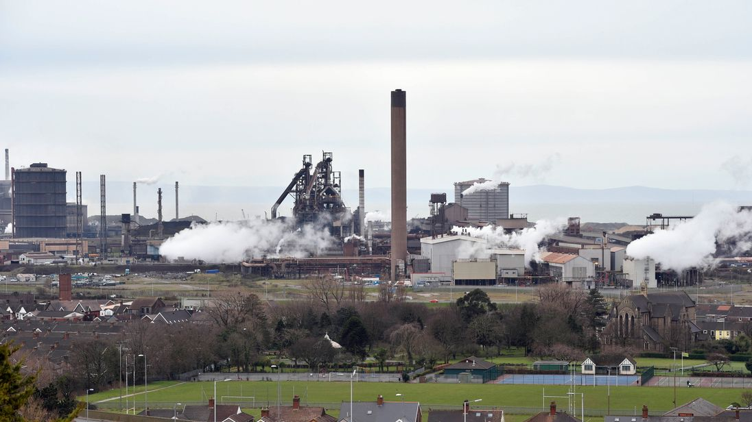 Steel works in Port Talbot, South Wales