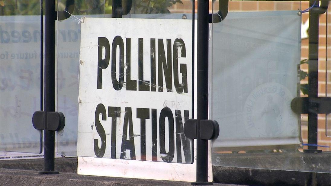 A UK polling station