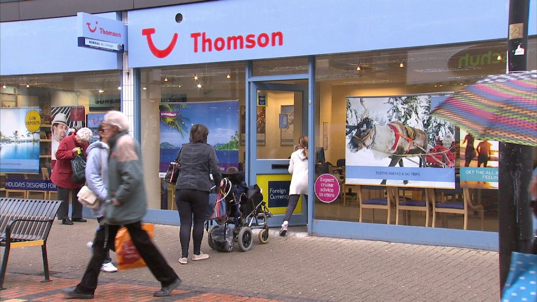 Thomson travel agent