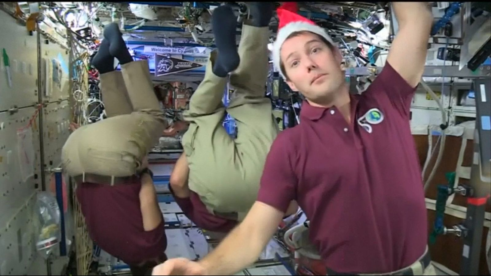 Astronauts celebrate Christmas on the International Space Station
