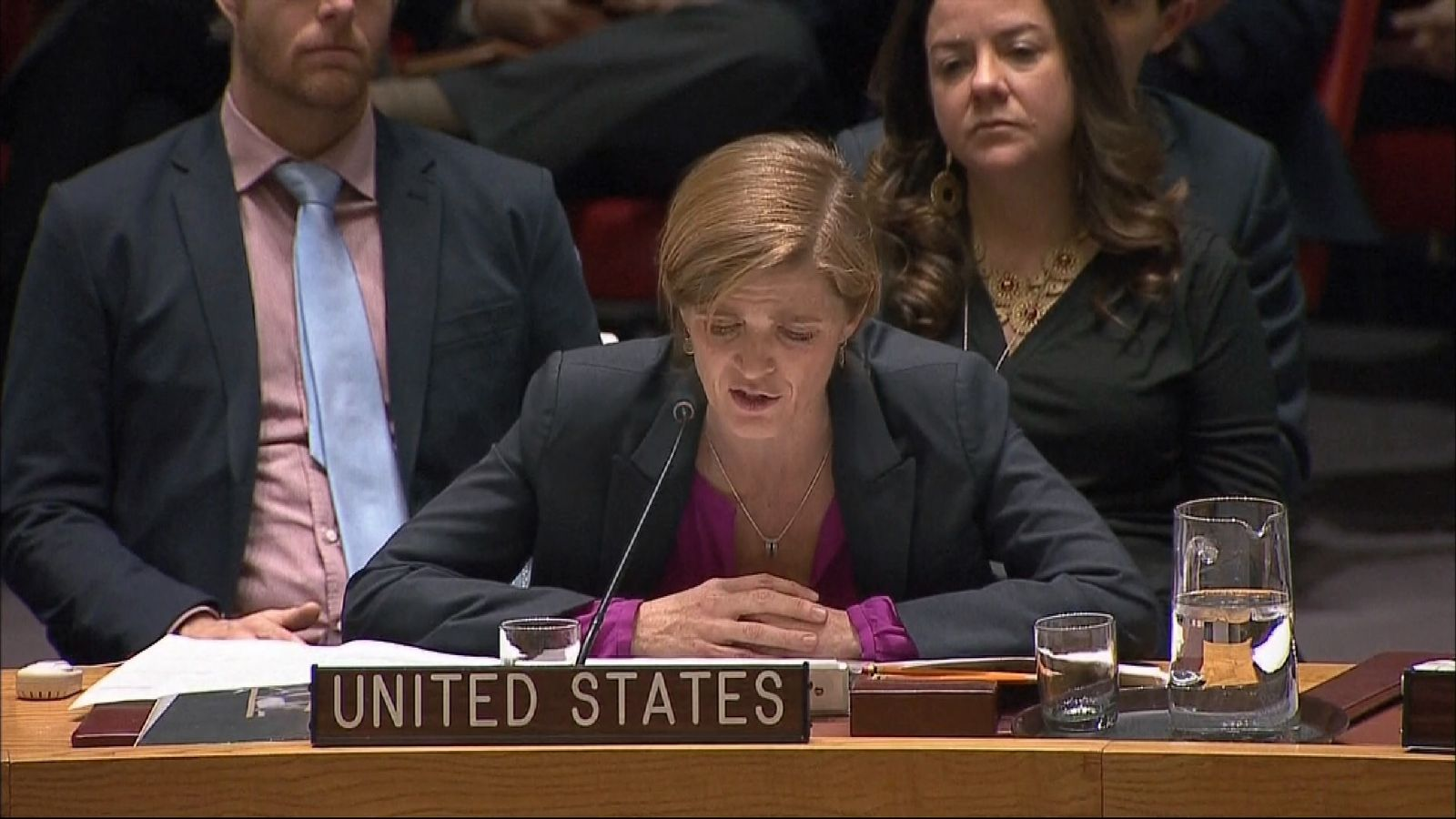 US ambassador to the UN, Samantha Power