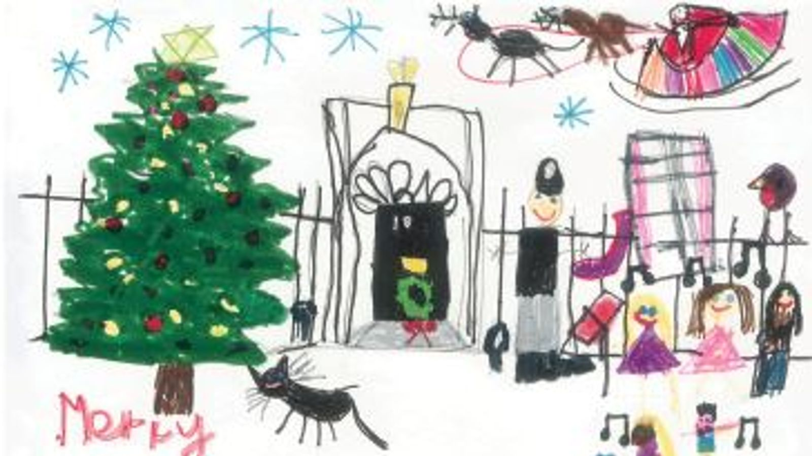 newsody.com : Children\'s drawings picked for No 10 Christmas cards