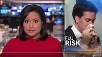 Ed Miliband picture used in an NBC feature on colds and flu