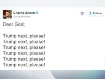 Charlie Sheen tweet