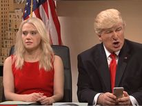 Saturday's SNL sketch mocked Donald Trump's social media feed