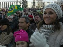 People travel from across the world to hear the Pope's Christmas message