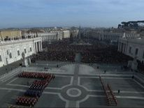 Thousands of people in St Peter's Square for the Pope's Christmas message