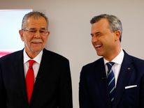 Austrian presidential candidate Alexander Van der Bellen with Norbert Hofer