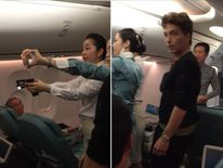 Richard Marx is present as an unruly passenger is restrained. Pics: Daisy Fuentes